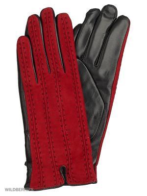 Перчатки женские с эффектом Touch Screen Marco Bonne`. Цвет: черный, красный