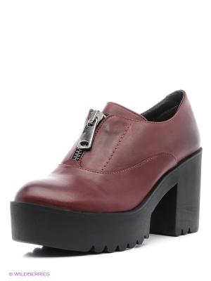 Ботинки Benta. Цвет: бордовый