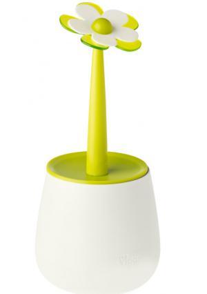 Контейнер для сыпучих продуктов 0,9 л FLOR VIGAR. Цвет: белый (белый, зеленый)