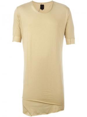 Удлиненная футболка Thom Krom. Цвет: телесный