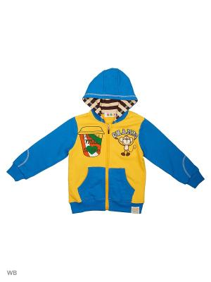 Куртка трикотажная Kidly. Цвет: желтый, голубой