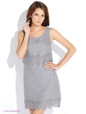 Платье Oodji. Цвет: серый