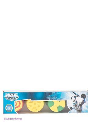 Большой набор пальчиковых красок Max Steel с крупными штампами Centrum. Цвет: желтый, голубой