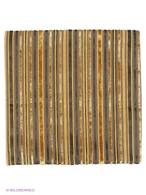 Декоративная наволочка 43х43, молния, черно-золотые полоски Asabella. Цвет: темно-коричневый