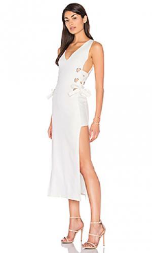 Платье all tied up russett LIONESS. Цвет: белый