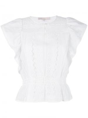 Блузка с вышитой деталью Vanessa Bruno. Цвет: белый
