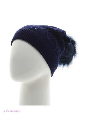 Колибри Беркле шапка женская с помпоном Berkle. Цвет: темно-синий