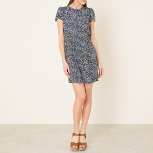Платье с принтом WAX KO SESSUN. Цвет: сине-зеленый