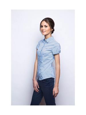 Рубашка MARIMAY. Цвет: голубой