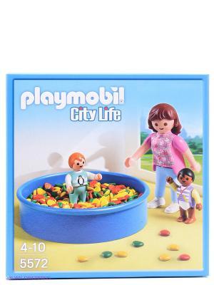 Детский сад Игровая площадка с шариками Playmobil. Цвет: синий