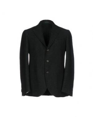 Пиджак SALVATORE PICCOLO. Цвет: темно-зеленый