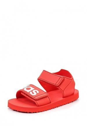 Сандалии adidas Originals. Цвет: красный