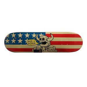 Дека для скейтборда  Dead American Monster Blue/Red/Beige 31.5 x 8.125 (20.6 см) Toy Machine. Цвет: красный,синий,бежевый