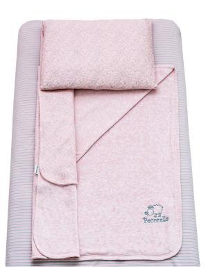 Детское постельное белье Pecorella Нежная пенка. Цвет: розовый, серый, серебристый