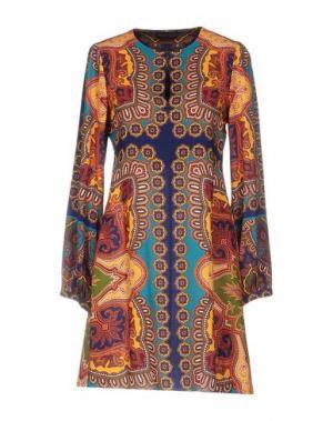 Короткое платье HALE BOB. Цвет: синий