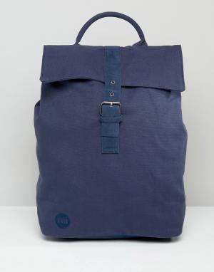 Mi-Pac Темно-синий парусиновый рюкзак с клапаном. Цвет: темно-синий