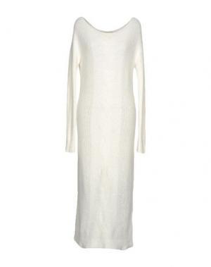 Длинное платье LOU LONDON. Цвет: белый