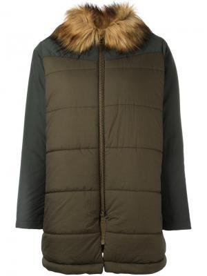 Пальто-пуховик Bellerose. Цвет: зелёный