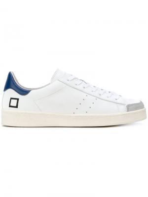Кеды со шнуровкой D.A.T.E.. Цвет: белый