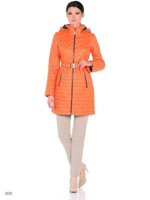 Пальто MOHNASS. Цвет: оранжевый