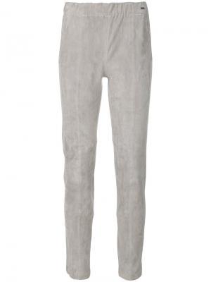 Узкие укороченные брюки Woolrich. Цвет: серый