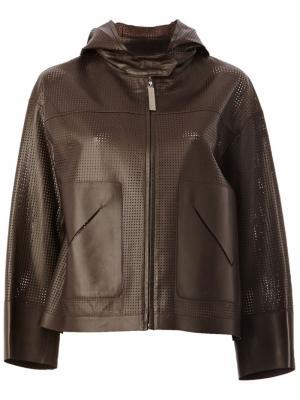 Куртка с перфорированным дизайном Maison Ullens. Цвет: коричневый