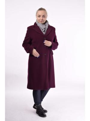 Пальто Milana Style. Цвет: бордовый