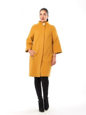 Пальто Best&Best. Цвет: желтый