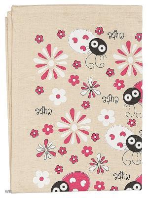 Полотенца Божья коровка и ромашка, 2 шт., с петелькой GrandStyle. Цвет: розовый, серый
