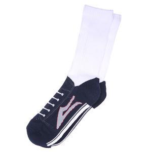Носки высокие  Brea White Lakai. Цвет: белый,синий