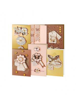Наборы для скрапбукинга. Набор создания 6-ти открыток Бабочки (217-SB) Белоснежка. Цвет: белый