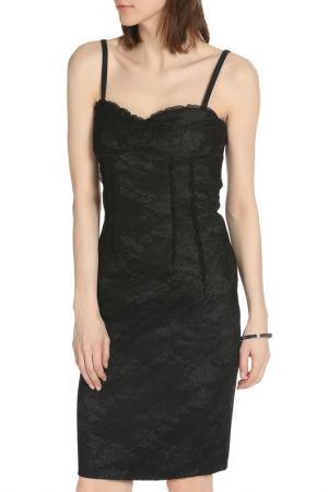 Универсальное платье на бретельках ERMANNO BY SCERVINO. Цвет: черный