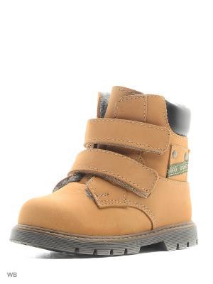 Ботинки Котофей. Цвет: желтый