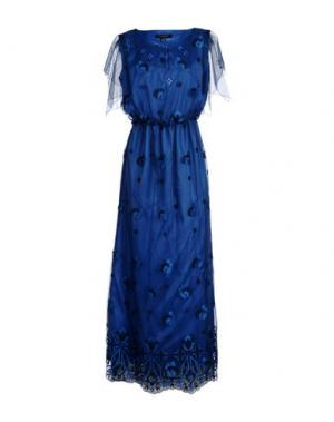 Длинное платье CHIARA D'ESTE. Цвет: синий