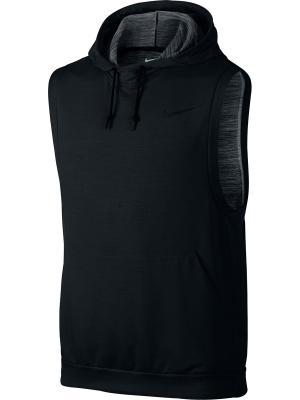 Жилет DRI-FIT TOUCH FLEECE SL PO Nike. Цвет: черный