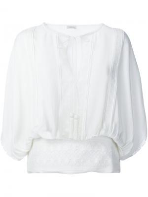 Блузка в крестьянском стиле Talitha. Цвет: белый