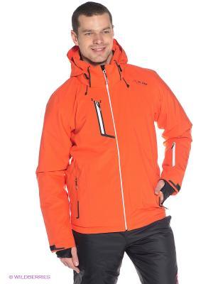 Куртка горнолыжная MS Professional Andermatt Maier. Цвет: оранжевый