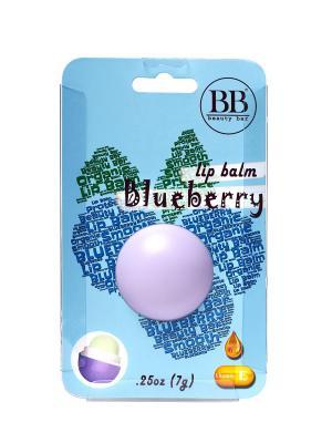 Бальзам для губ Beauty Bar с ароматом черники (блистер). Цвет: светло-голубой