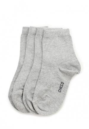 Комплект носков 2 пары Chicco. Цвет: серый