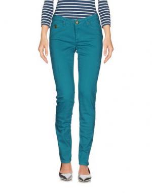 Джинсовые брюки DUCK FARM. Цвет: цвет морской волны