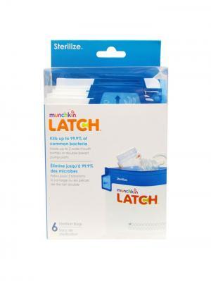 Пакеты для стерилизации 6шт. MUNCHKIN. Цвет: голубой