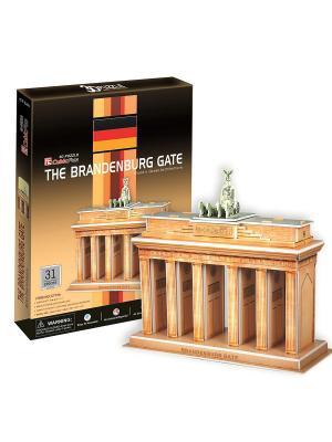 Пазл Бранденбургские ворота CubicFun. Цвет: светло-коричневый