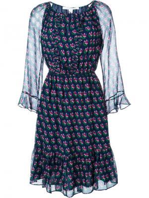 Платье Simonia Diane Von Furstenberg. Цвет: синий
