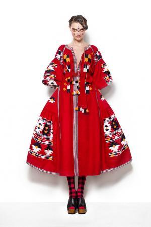 Льняное платье Vita Kin. Цвет: красный