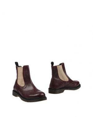 Полусапоги и высокие ботинки EMANUÉLLE VEE. Цвет: красно-коричневый