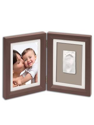Рамочка двойная Baby Art. Цвет: коричневый