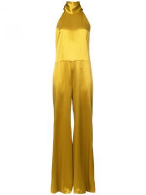 Комбинезон с широкими брюками Galvan. Цвет: жёлтый и оранжевый