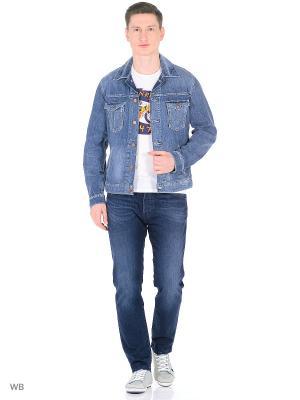 Куртка Wrangler. Цвет: голубой