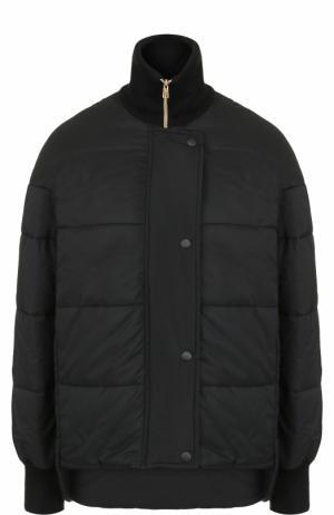 Стеганая куртка свободного кроя на молнии Tara Jarmon. Цвет: черный