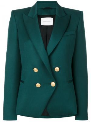 Double breasted blazer Pierre Balmain. Цвет: зелёный